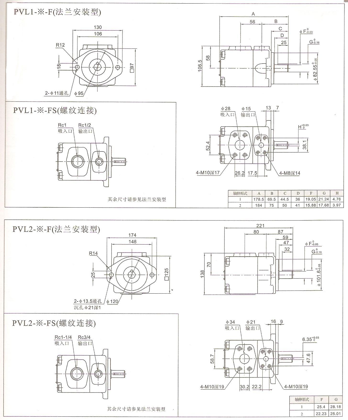 供应pvl系列叶片泵 液压泵